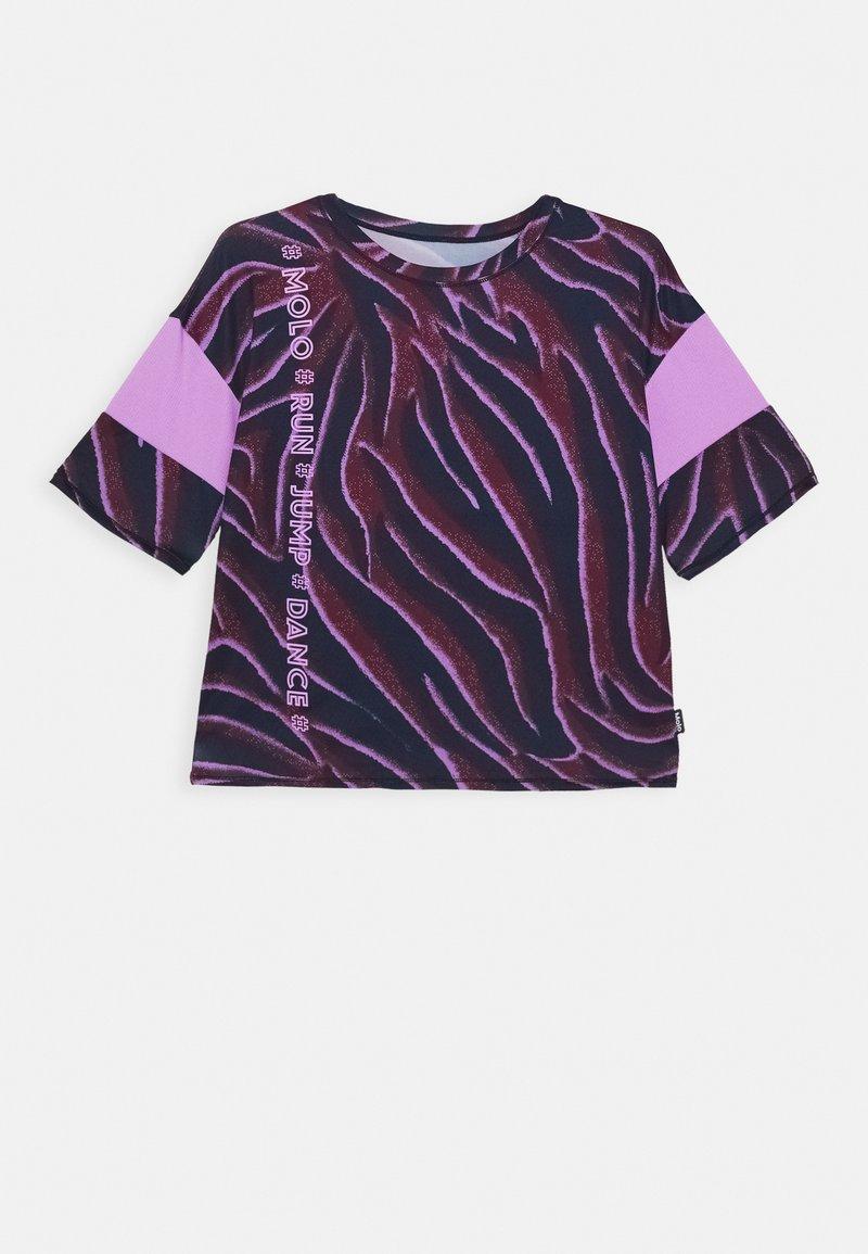 Molo - ODESSA - T-shirt imprimé - bordeaux/dark blue/lilac