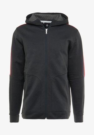 ATHLETE RECOVERY - Zip-up hoodie - black/metallic silver