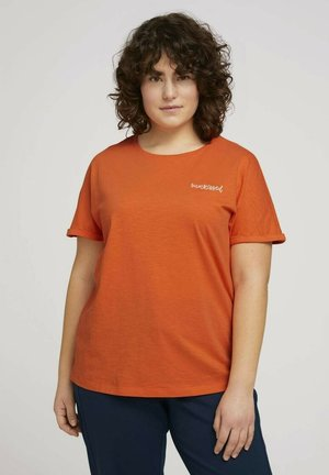 CHEST EMBROIDERY - Print T-shirt - sundowner red