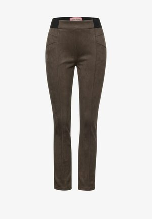IN VELOURS - Trousers - braun