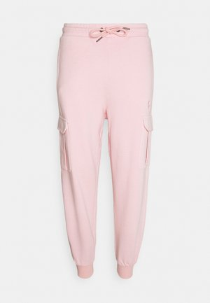SMALL SIGNATURE CARGO UNISEX - Tracksuit bottoms - rose