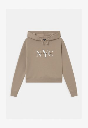 NYC MUSHROOM LOGO HOODY - Felpa - light brown