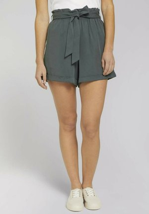 SOFT RELAXED - Shorts - dusty pine green