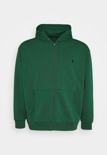 DOUBLE TECH - Zip-up sweatshirt - new forest