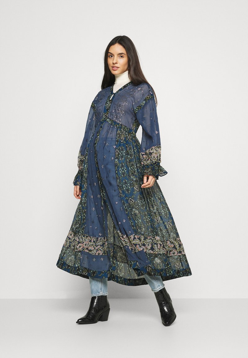Free People - SAMIRA MAXI - Skjortekjole - midnight