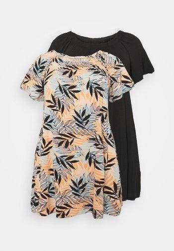 BARDOT DRESSES 2 PACK - Jersey dress - orange/black