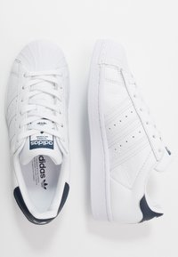 adidas Originals - SUPERSTAR - Sneakers - footwear white/collegiate navy - 5