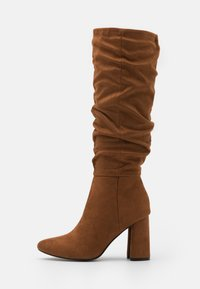 ONLY SHOES - ONLBRODIE LIFE BOOT - High heeled boots - cognac - 1
