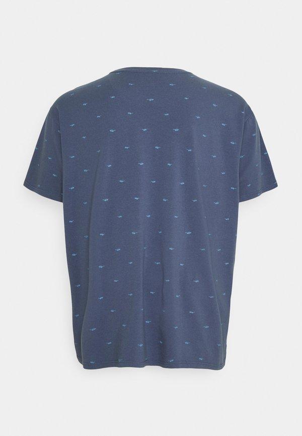Petrol Industries T-shirt z nadrukiem - stone blue/niebieski Odzież Męska CLRW