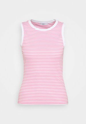 STRIPE TANK - Top - pink