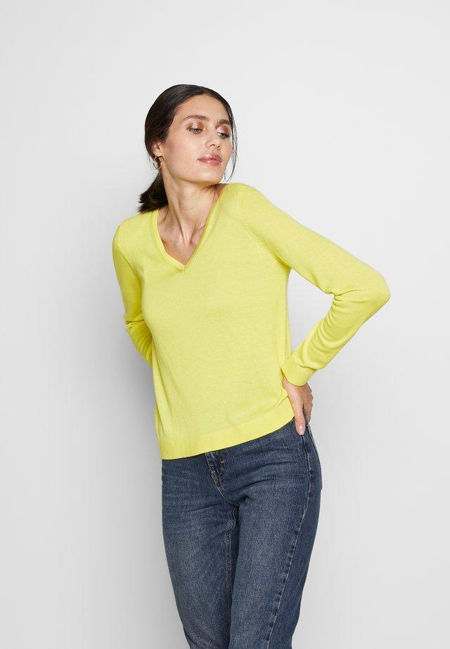 LANGARM - Strikpullover /Striktrøjer - yellow