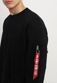 Alpha Industries - INLAY TAPE - Sweatshirt - black - 4