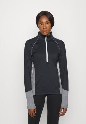 COLDGEAR 1/2 ZIP - Long sleeved top - black