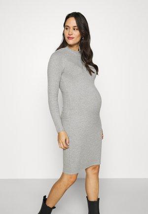 Vestido de punto - mottled light grey