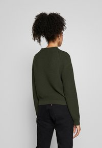 Anna Field - Diagonal jumper with grown on collar - Trui - jungle green - 2