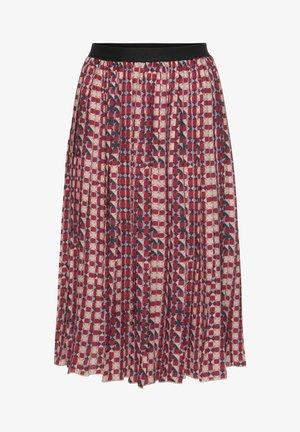 A-line skirt - rot/blau/bedruckt