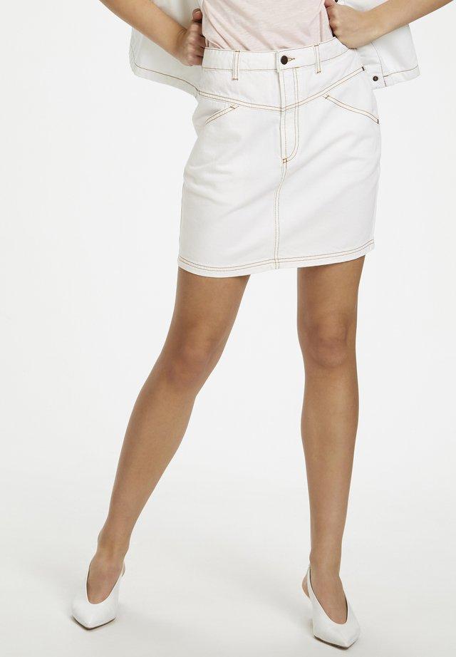 Spódnica jeansowa - off white
