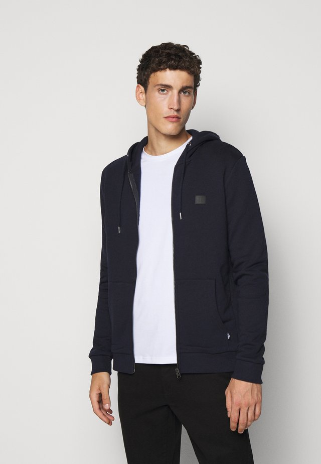 CLINTON ZIPPER HOODIE - veste en sweat zippée - dark navy/black