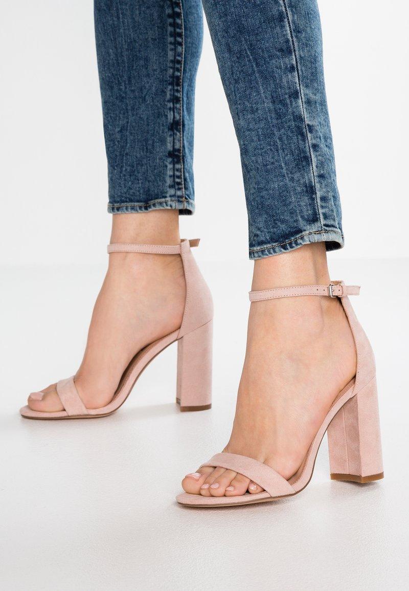 Even&Odd - Sandály na vysokém podpatku - rose
