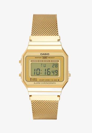 Digital watch - gold-coloured