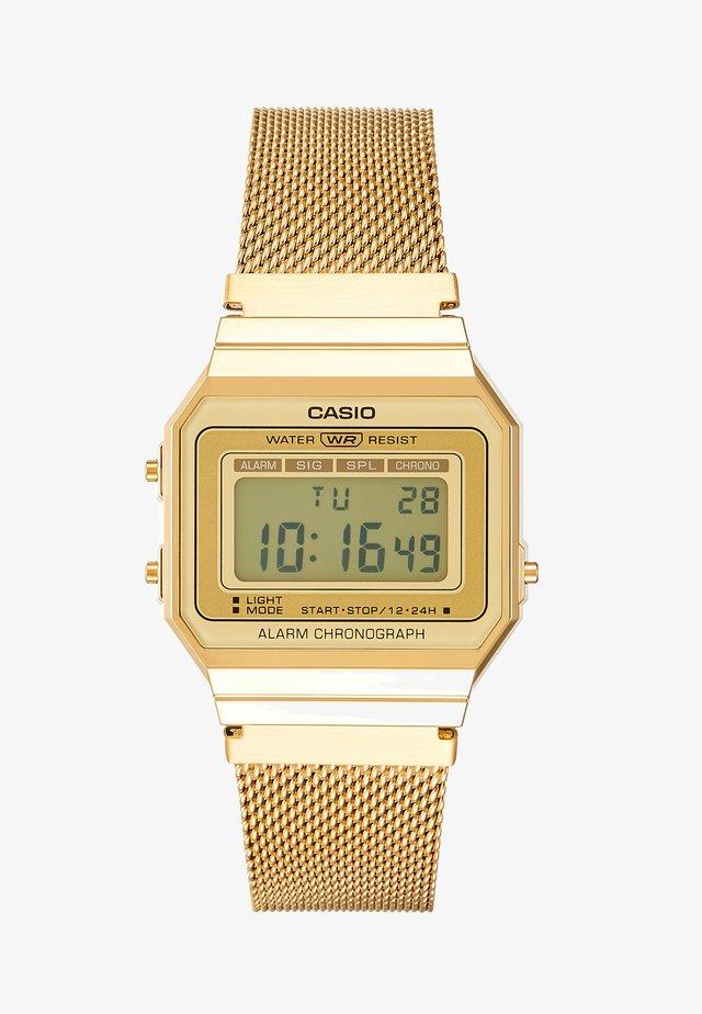 Digitalklokke - gold-coloured
