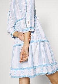 Rich & Royal - DRESS EMBROIDERED - Day dress - capri blue - 5