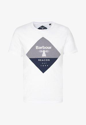 DIAMOND TEE - Print T-shirt - white