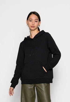 EMBOSSED LOGO HOODIE - Sweater - black