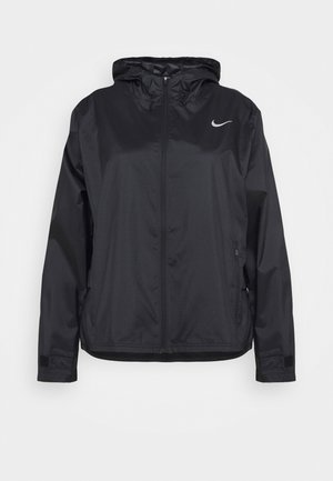 ESSENTIAL JACKET PLUS - Běžecká bunda - black/silver