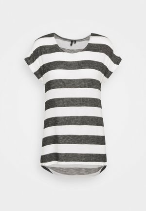 VMWIDE - T-shirt con stampa - snow white/black