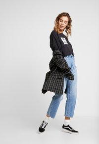 Abrand Jeans - A CROPPED OVERSIZED TEE - Print T-shirt - faded black - 1