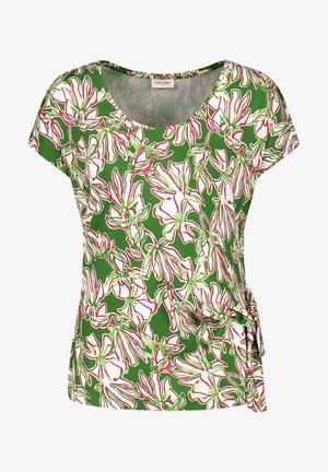 Print T-shirt - palm white azalea druck