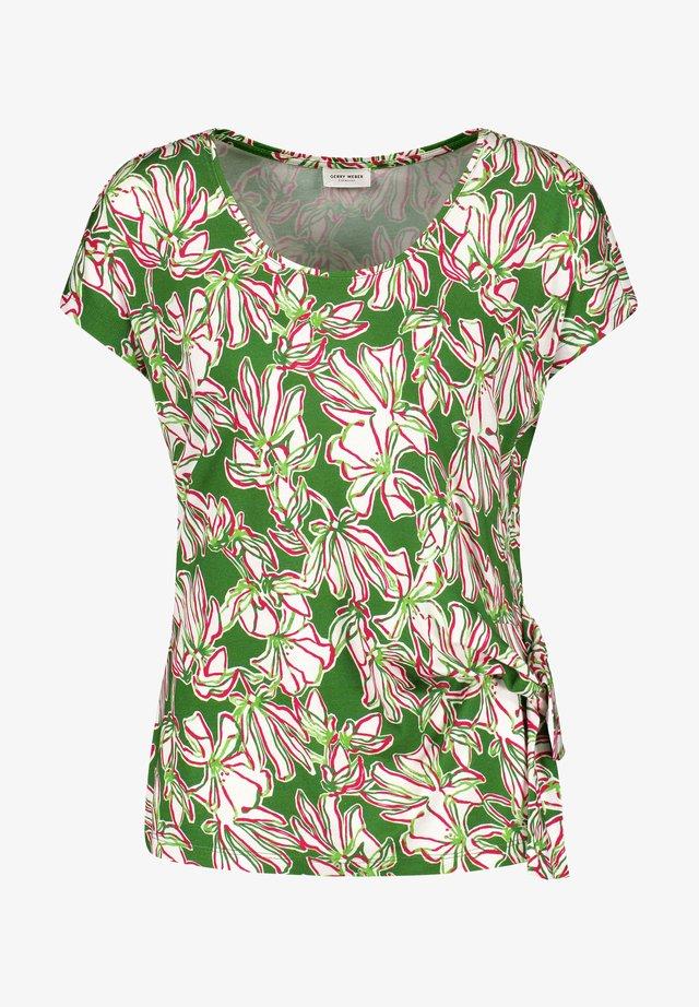 T-shirt print - palm white azalea druck