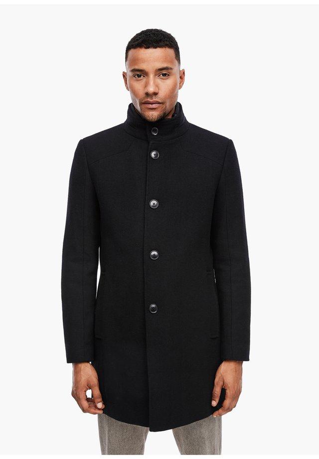 Halflange jas - black melange
