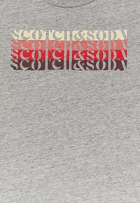 Scotch & Soda - LOGO - Print T-shirt - grey melange - 2