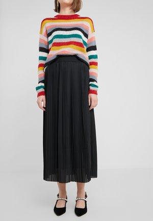PETRI CARMEN SOLID SKIRT - Plisovaná sukně - black