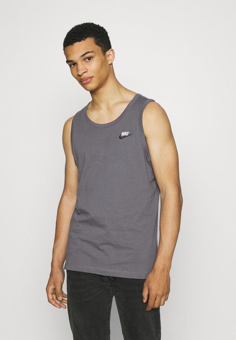 Nike Sportswear - CLUB TANK - Top - dark grey/white/black