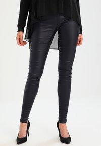 Kaffe - ADA COATED - Leggings - Trousers - midnight marine - 0