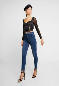 Missguided - CORSET STYLE - Blus - black - 1