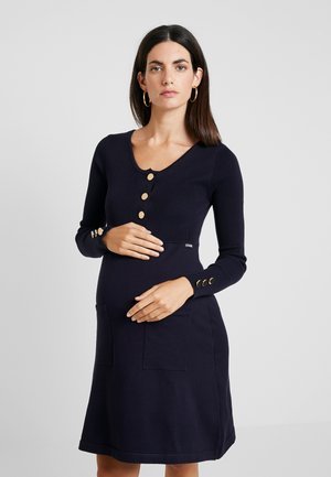 NURSING FLAT DRESS WITH BUTTONS - Abito in maglia - navy