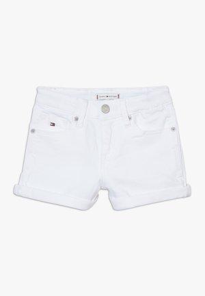 NORA - Denim shorts - white