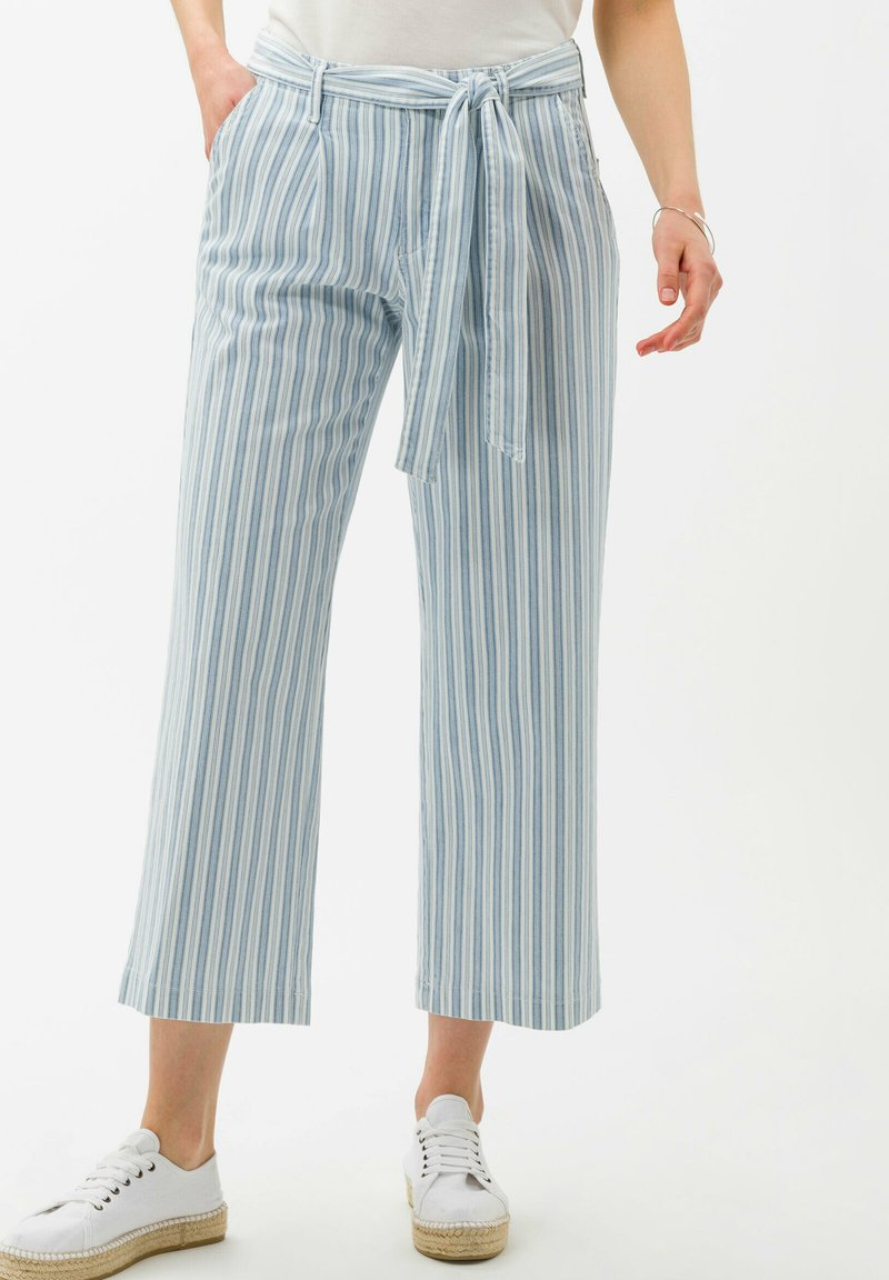 BRAX - STYLE MAINE  - Trousers - used light blue