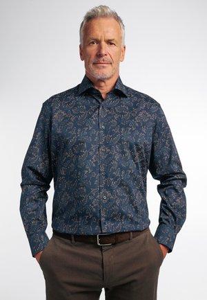 LANGARM COMFORT FIT - Shirt - braun/ grün