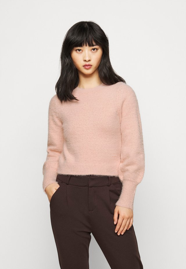 EYELASH BACK DETAIL JUMPER - Strikkegenser - blush
