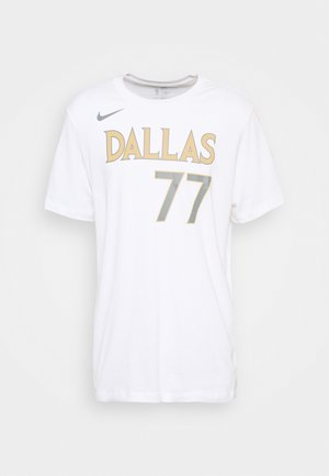NBA DALLAS MAVERICKS LUKA DONCIC CITY EDITION NAME NUMBER TEE - Equipación de clubes - white