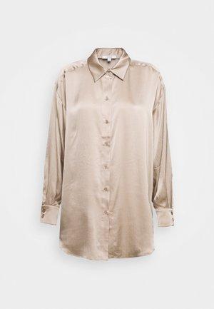 GINA - Button-down blouse - sand