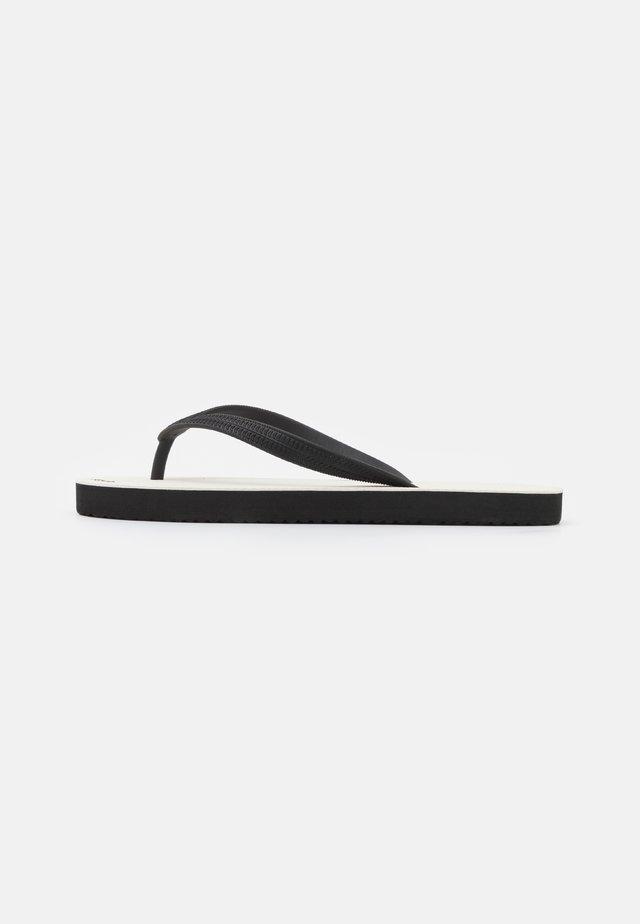 RETRO - T-bar sandals - black