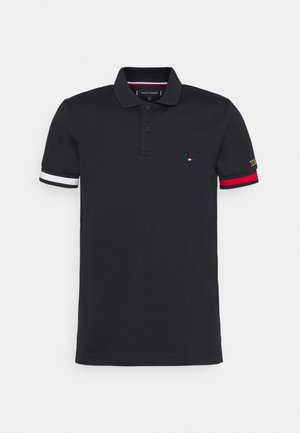 FLAG CUFF SLIM - Polo shirt - desert sky