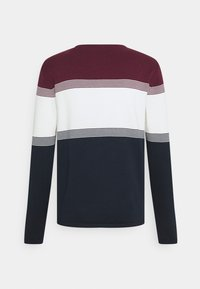Esprit - COO F STRIP  - Trui - dark red - 1