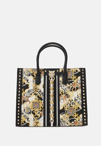 ABOMA - Tote bag - black/gold-coloured/multi